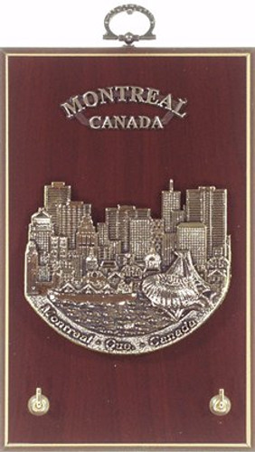 AFG Key Hook Plaque - Downtown Skyline, Montreal, Canada