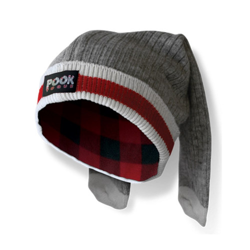 Toque (Grey / Red Plaid Reversible) by Pook - Ships in Canada Only