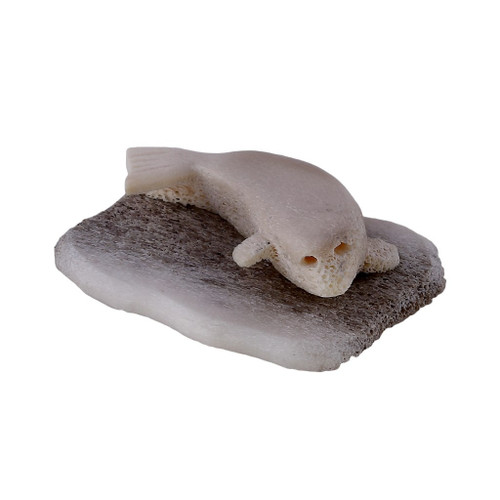 Inuit Seal Sculpture 3 by Sandy Maniapik