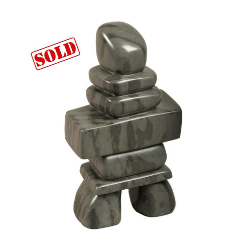 Inuit Inukshuk Sculpture by Zach Meeko