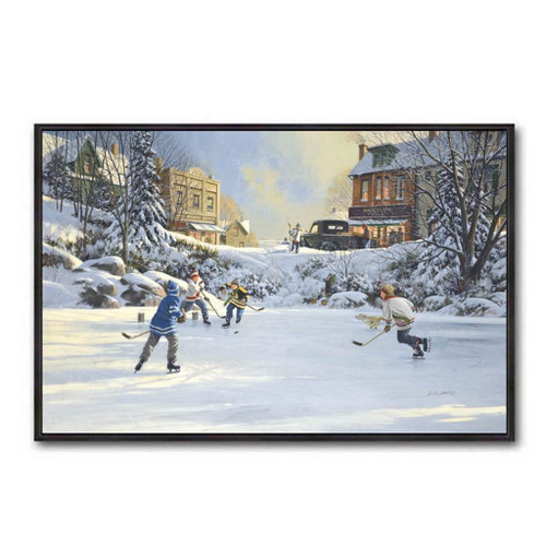 Pond Hockey by D.L. Laird