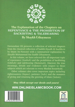 The Explaination of the Chapters on Repentance & The prohibition of backbiting & TaleBearing