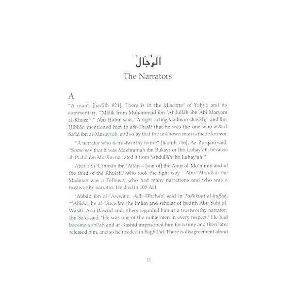 Rijal Narrators of the Muwatta al-Imam Muhammad