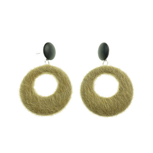 Agnes Olive Earrings