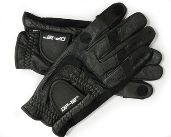 DP-12 Black Leather Shooting Gloves