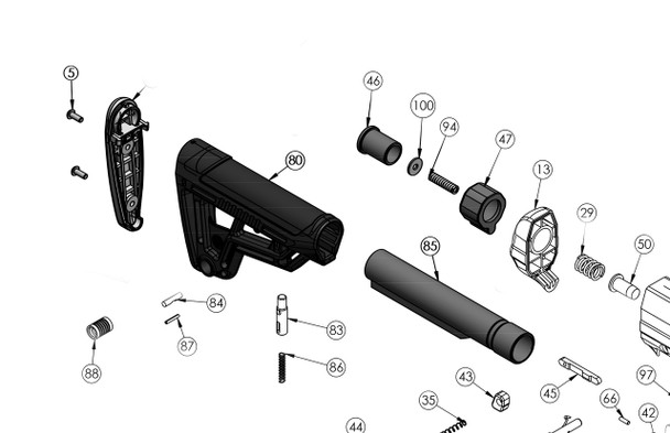SKO Shorty Conversion Kit with Stock