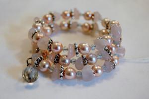 Pink Elegance wrap bracelet