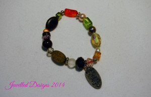 """Enjoy the Little Things"" stretch bracelet"