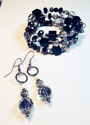 wrap bracelet and earrings set