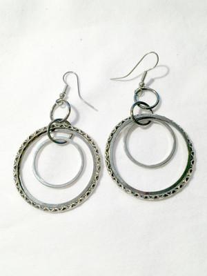 Silver circles earrings