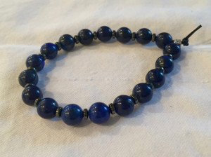 Lapis Lazuli with hematite spacers Bracelet