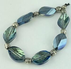Aqua Blue Crystal Bracelet