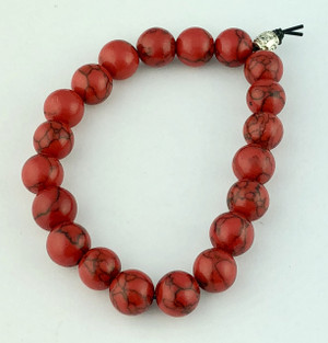 Dyed Red Turquoise Bracelet