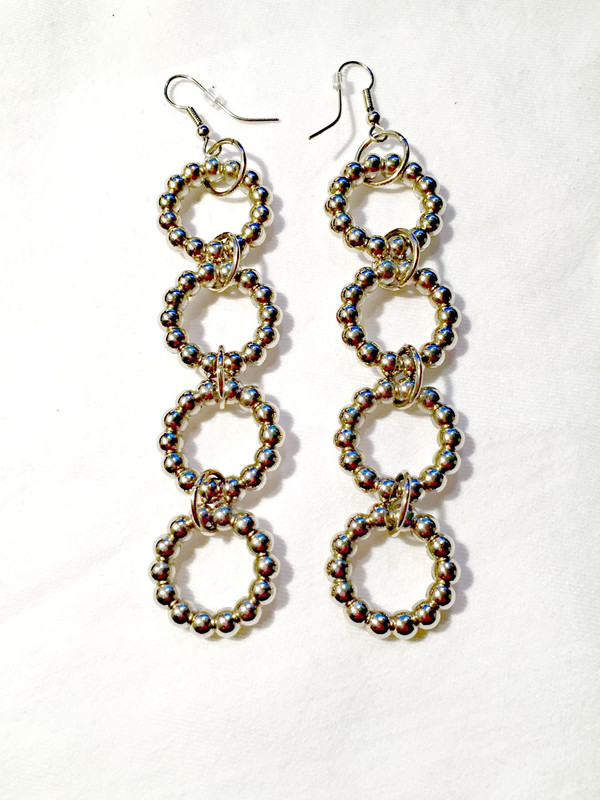 Silver rings earrings