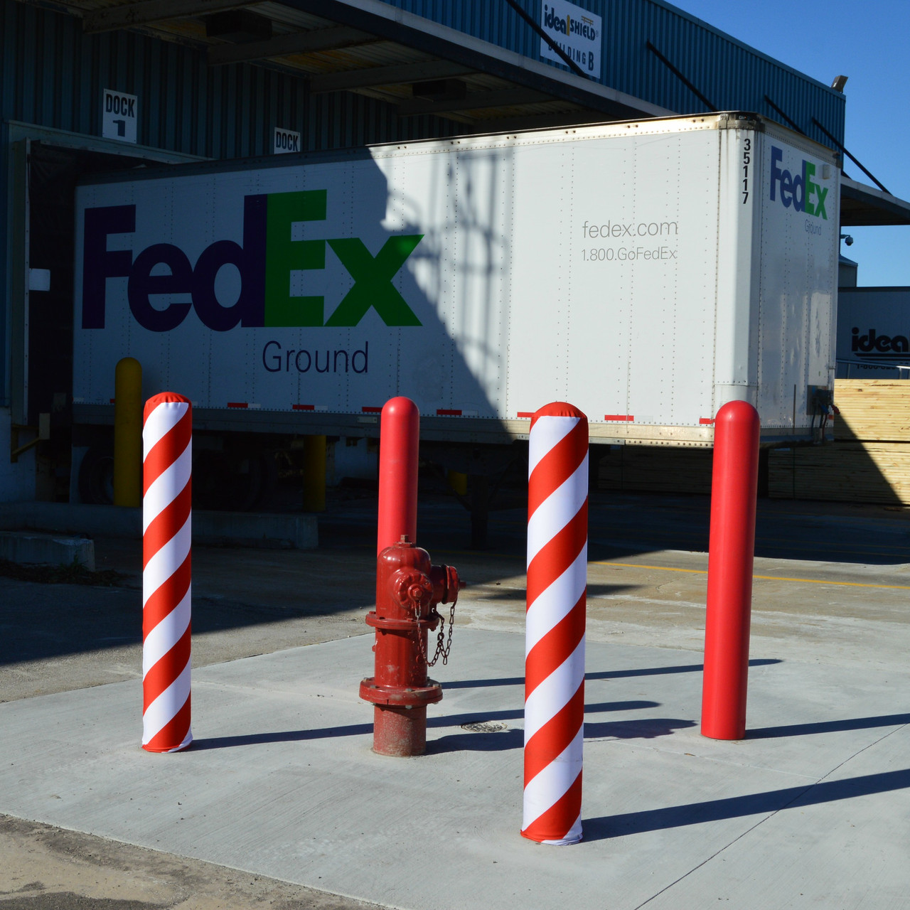 Add Some Festive Flair with Holiday Fabric Bollard Covers