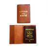 Passport Sleeve: Citizen of the World Camel