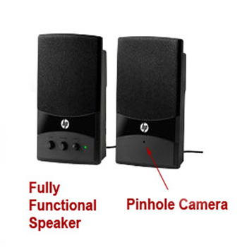 WiFi Nanny Cam Night Vision Computer Speaker W/ Wireless Streaming Video for PC iPhone & more