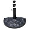 Half Round Resin Umbrella Base for Half Patio Umbrella, Black