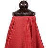 Patio Garden 9ft Outdoor Market Umbrella with 24 Fiberglass Ribs and UV Resistant Fabric Polyester (Red)