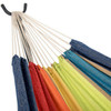 Lazy Daze Hammocks Double Hammock with Space Saving Steel Stand Includes Portable Carrying Case, 450 Pounds Capacity (Lime&Orange Stripe) …