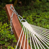 "LazyDaze Hammocks 55"" Double Quilted Fabric Hammock Swing with Pillow, Natural"