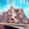 """Lazy Daze Hammocks 55"""" Double Quilted Fabric Hammock Swing with Pillow ( Dark Camouflage)"""