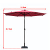 Sundale Outdoor Solar Powered 24 LED Lighted Outdoor Patio Umbrella with Crank and Tilt, 10 Feet, Red