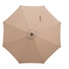 Sundale Outdoor 11 Feet Round Market Patio Umbrella Bronze Aluminum Pole, Push Button Tilt/Crank, UV Protection and Fade Resistant Canopy, Tan