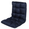 Sundale Outdoor Indoor Adjustable Soft-Brushed Polyester Cord Five-Position Multiangle Folding Chair,Navy Blue