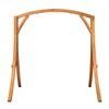 Lazy Daze Hammocks Deluxe Wooden Arc Frame Hammock Swing Chair Stand Heavy Duty Russian Pine Hardwood, Capacity 450 lbs