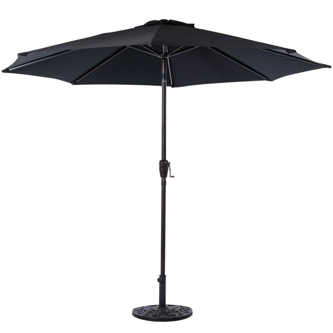 Charmant 10 Feet Outdoor Aluminum Patio Umbrella(Black)