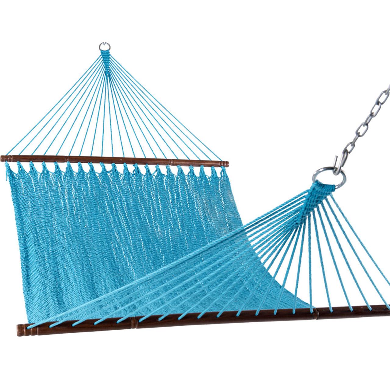 lazy daze hammocks 55 inch double caribbean hammock hand woven polyester rope outdoor handmade patio swing 55 inch double caribbean hammock hand woven polyester rope outdoor      rh   sundaleoutdoor