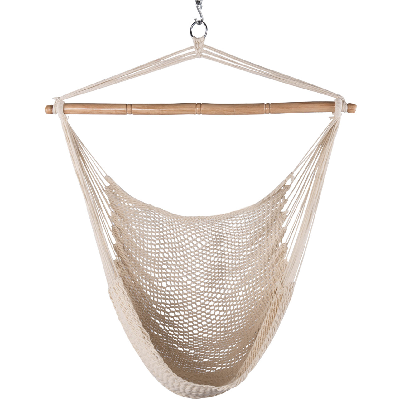lazy daze hammocks hanging caribbean hammock chair soft spun cotton rope 40 inch cotton rope hanging swing chair with wood spreader bar natural  rh   sundaleoutdoor