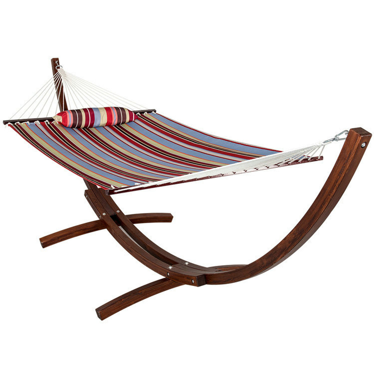 lazy daze hammocks 12 ft  wood arc hammock stand with 2 person double layer polyester lazydaze hammocks 12 ft  wood arc hammock stand with 2 person      rh   sundaleoutdoor