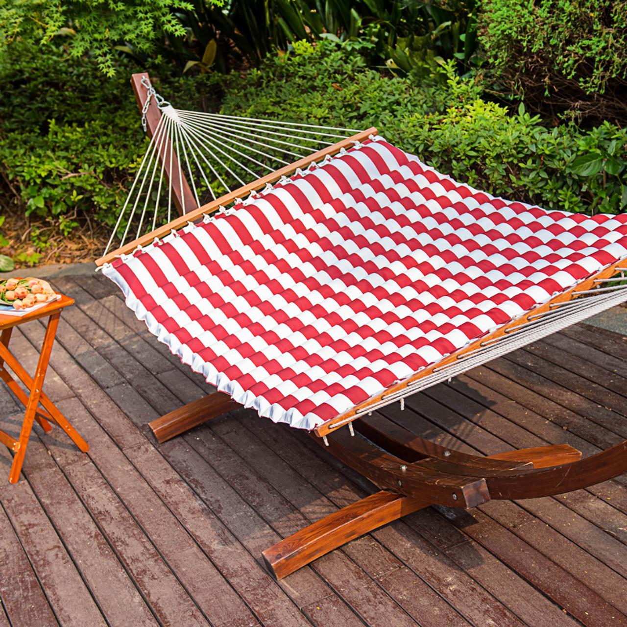 lazy daze hammocks double size pillow top hammock spreader bar heavy duty  sienna  lazydaze hammocks double size pillow top hammock spreader bar      rh   sundaleoutdoor