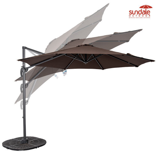 10ft Hanging Roma Offset Umbrella(Coffee)
