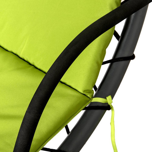 lazy daze hammocks dream chair with umbrella hanging chaise lounge chair arc curved hammock  apple dream chair apple green   rh   sundaleoutdoor