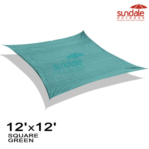 12'x12' Square Sun Shade Sail(Green)