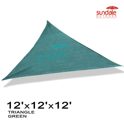 12' x12'x12' Triangle Sun Shade Sail(Green)