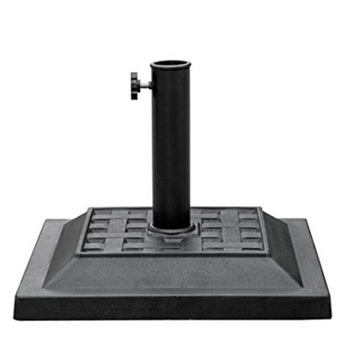 Universal Square Cast Stone Patio Umbrella Base Metal Heavy Duty Stand