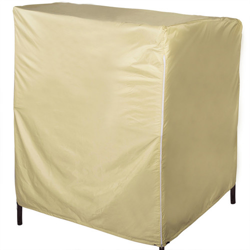 Patio Heavy Duty Beach Chairs Cover with PVC Coating, fit up to 53L x 46W x 53/63H inches, Beige