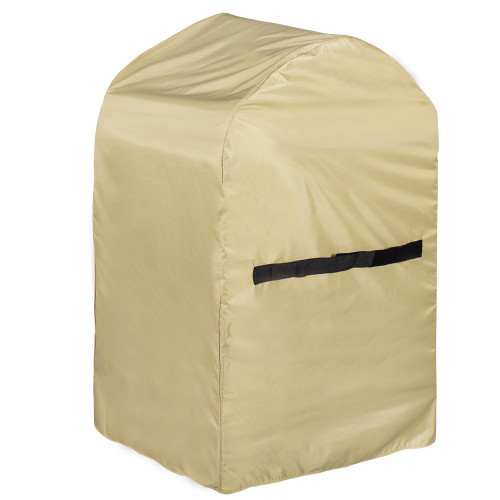 Heavy Duty Rectangle BBQ Grill Cover with PVC Coating, fit up to 30L x 24W x 47H inches, Beige