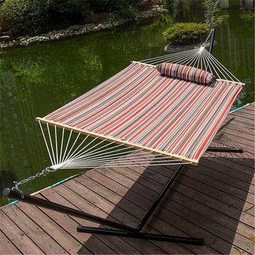lazy daze hammocks 15 feet heavy duty steel hammock stand two person quilted fabric hammock 12 feet steel hammock stand with cotton rope hammock  boquilted      rh   sundaleoutdoor