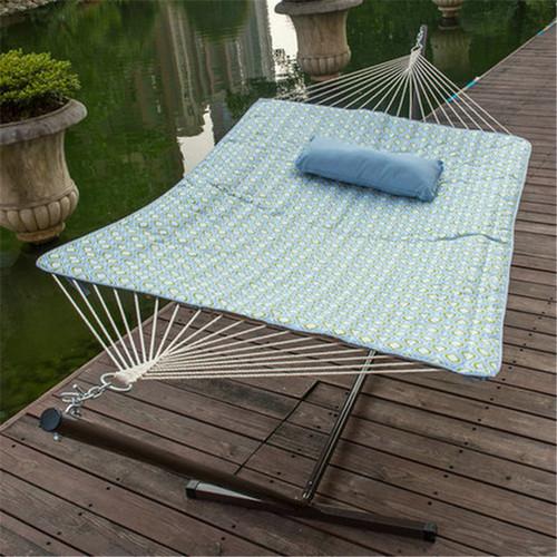 lazy daze hammocks 12 feet steel hammock stand with cotton rope hammock  bo quilted polyester 12 feet steel hammock stand with cotton rope hammock  bo      rh   sundaleoutdoor