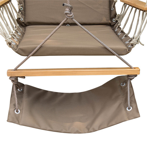 lazy daze hammocks hanging rope chair cotton padded swing chair hammock seat with cup holder hanging hammock swing lounger chair with cup holder      rh   sundaleoutdoor