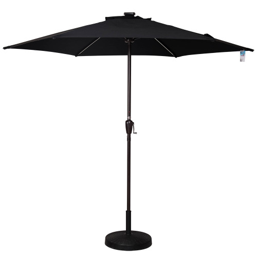 Led Umbrella Amazon: Solar Powered 32 LED Lighted Outdoor Patio Umbrella With