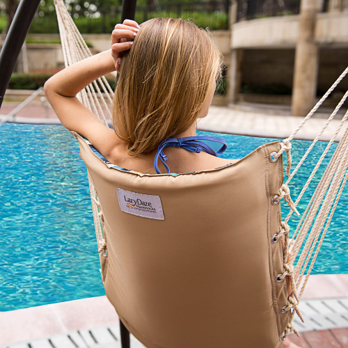 lazy daze hammocks cushioned hanging hammock swing lounger chair all weather rope chair cotton padded hammock lazydaze hammocks cushioned hanging hammock swing lounger chair      rh   sundaleoutdoor