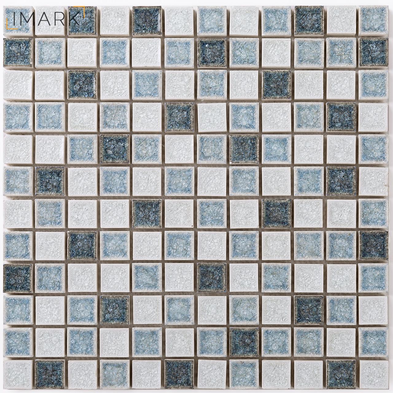 IMARK Frozen Crackle Glaze Ceramic Mosaic Tile Decor Kitchen