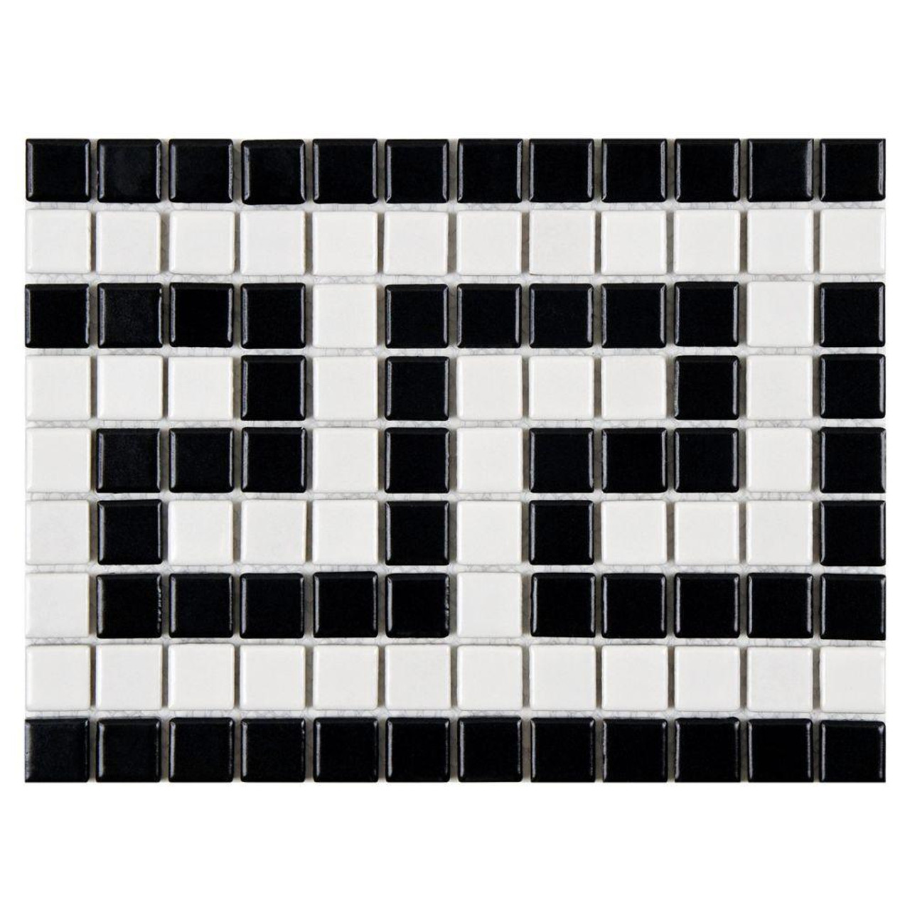 Ceramic mosaic tile ceramic border mosaic foshan imark building metro greek key matte white and black border waterline tile porcelain mosaic tile dailygadgetfo Gallery