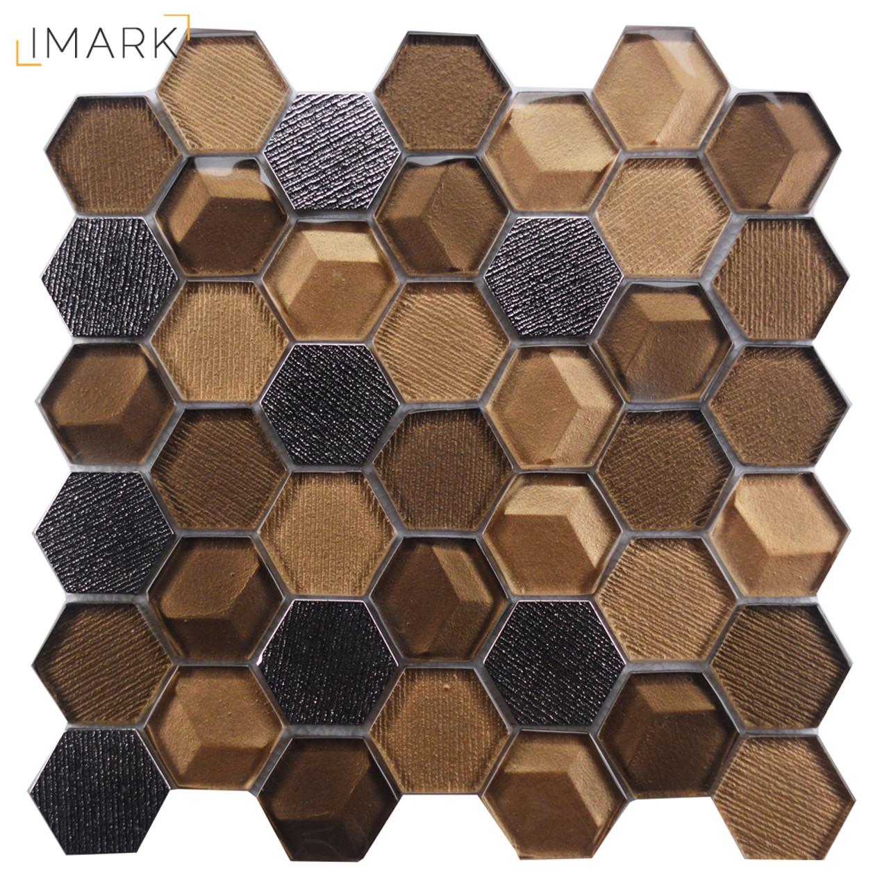 Hexagon tile backsplash